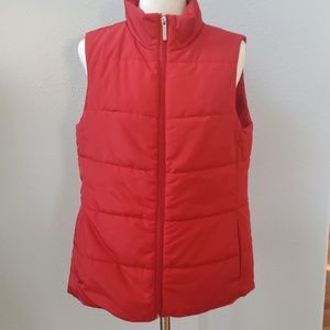 Micheal Kors puffer vest red m